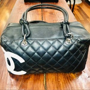 CHANEL Bags - Authentic Chanel Cambon black/white bowler bag.
